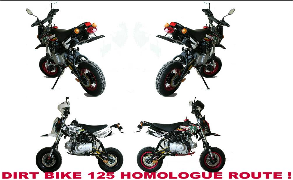 vente dirt bike homologue route 125 achat acheter dirt. Black Bedroom Furniture Sets. Home Design Ideas