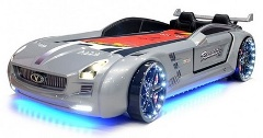 lit voiture supersport led silver pas cher