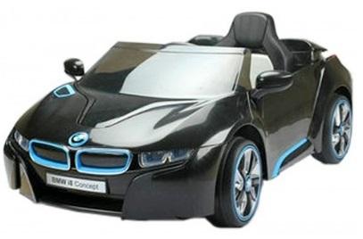 bmw i8 mini noire voiture electrique bebe pas cher voiture enfant avec mp3 telecommande a. Black Bedroom Furniture Sets. Home Design Ideas