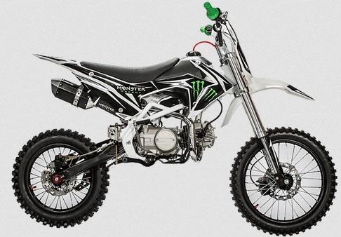 dirt bike 125cc monster energy moto cross 125cm3 grandes roues pas cher moteur yz 4 temps. Black Bedroom Furniture Sets. Home Design Ideas