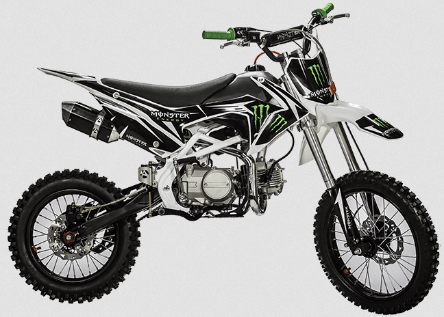 dirt bike 125cc monster energy moto cross 125cm3. Black Bedroom Furniture Sets. Home Design Ideas