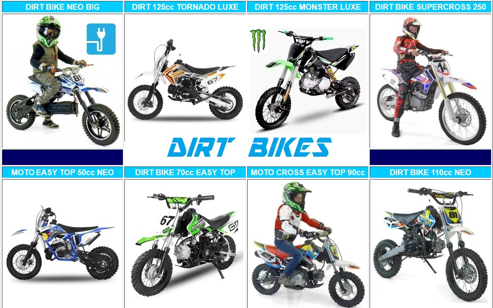 dirt bike pas cher moto cross 50cc 125cc 110cc prix. Black Bedroom Furniture Sets. Home Design Ideas