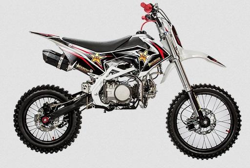 moto cross rockstar dirt bike 140cc motocross moteur yx 140cm3 grandes roues pas chere pneus. Black Bedroom Furniture Sets. Home Design Ideas