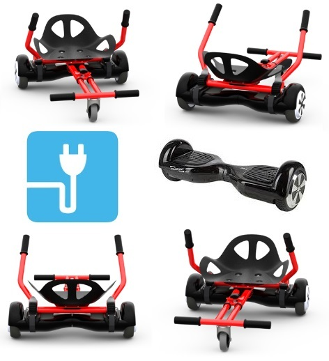 hoverboard hoverkart pas cher 2 en 1 gyropode hoverboard et hover kart 2 x 350w. Black Bedroom Furniture Sets. Home Design Ideas