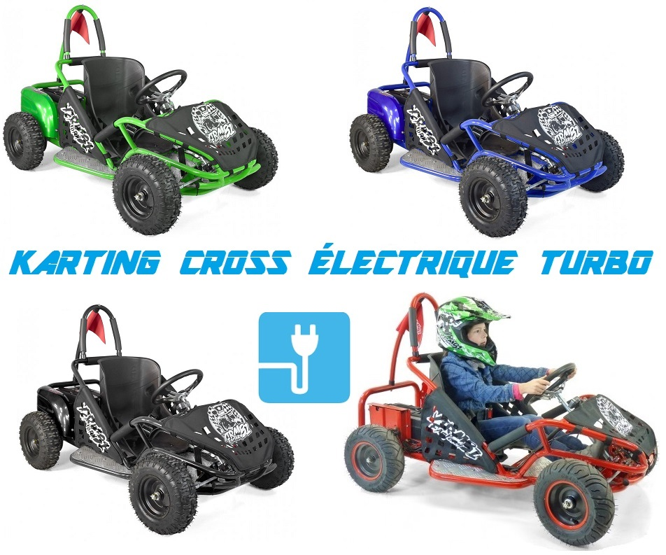 karting cross electrique turbo 1000w a vendre prix pas cher kart 1000w 20ah. Black Bedroom Furniture Sets. Home Design Ideas
