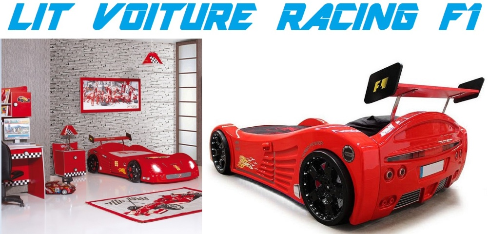 lit enfant voiture racing f1 lit voiture meubles. Black Bedroom Furniture Sets. Home Design Ideas