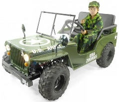 jeep pour enfant et ados us army willys neo militaire a vendre jeep enfant 125cc neuve pas cher. Black Bedroom Furniture Sets. Home Design Ideas