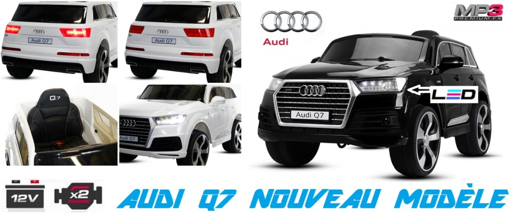 audi q7 voiture lectrique pour enfant pas chere eco import id e cadeau anniversaire. Black Bedroom Furniture Sets. Home Design Ideas
