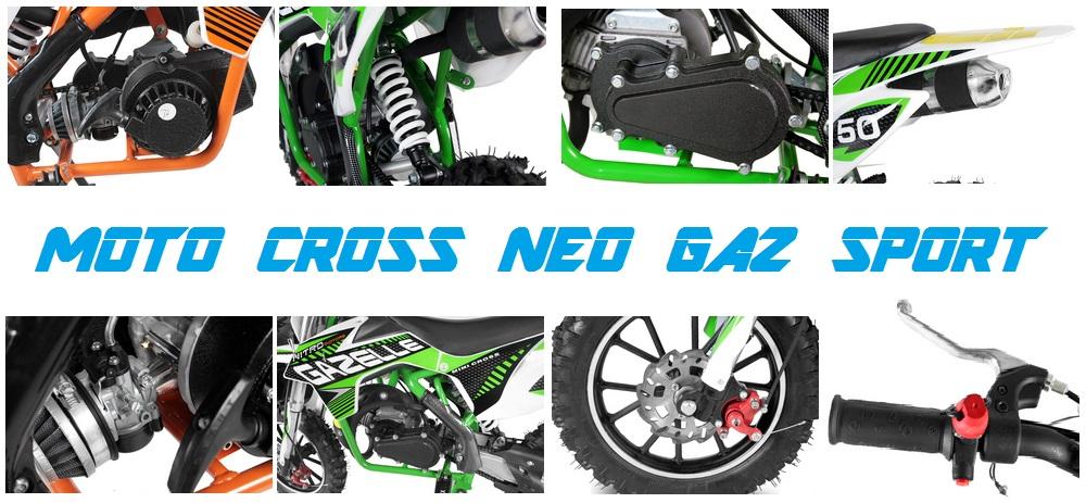 moto cross enfant 50 neo gaz sport pas chere mini. Black Bedroom Furniture Sets. Home Design Ideas