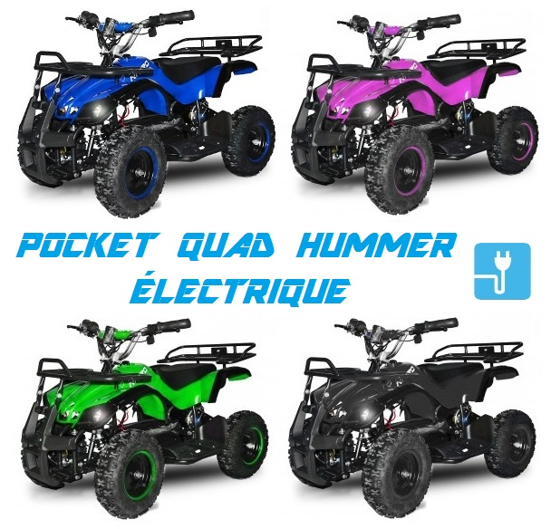 pocket quad hummer electrique 800w pas cher mini quad enfant torino nitro motors. Black Bedroom Furniture Sets. Home Design Ideas