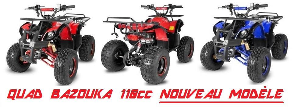 quad bazouka 110cc avec marche arri re nouveau modele quad bazouka toronto rs pas cher. Black Bedroom Furniture Sets. Home Design Ideas