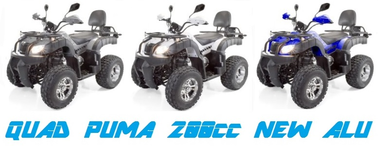 quad homologue puma 200cc new alu