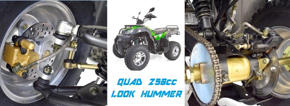 quad utilitaire 250cc hummer quad look hummer jantes aluminium shineray homologue route pas. Black Bedroom Furniture Sets. Home Design Ideas