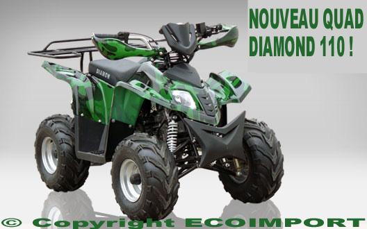 QUAD ENFANT DIAMOND 110cc PASCHER