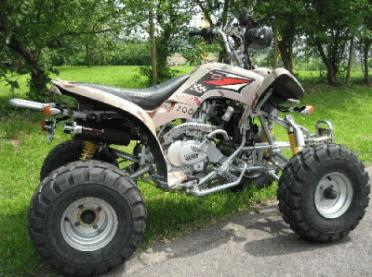 QUAD KINROAD 200cc HOMOLOGUE ROUTE