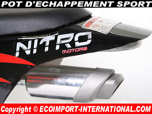 Pot d'echappement sport mini moto cross