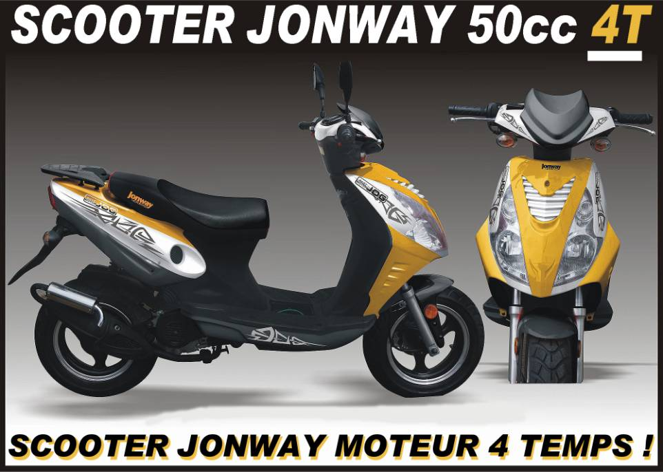 scooter jonway 50cc 4t moteur 4 temps scooter pas cher. Black Bedroom Furniture Sets. Home Design Ideas
