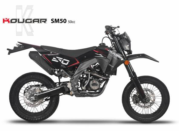dirt bike kougar 50cc moto homologue route pas. Black Bedroom Furniture Sets. Home Design Ideas
