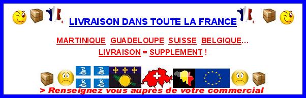 PAYS AVEC UN SUPPLEMENT DE FRAIS DE LIVRAISON
