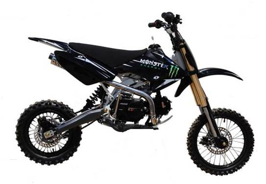 dirt pit bike 125cc monster energy tornado racing pas. Black Bedroom Furniture Sets. Home Design Ideas