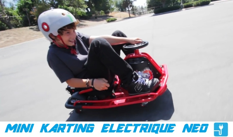 mini karting electrique neo drift crazy kart pas cher. Black Bedroom Furniture Sets. Home Design Ideas