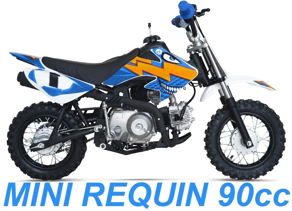 mini requin moto cross 90cc pour enfant motocross pas cher. Black Bedroom Furniture Sets. Home Design Ideas