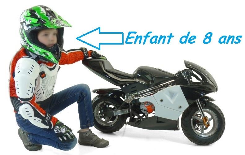 pocket bike electrique neo moto piste pour enfant 350w. Black Bedroom Furniture Sets. Home Design Ideas