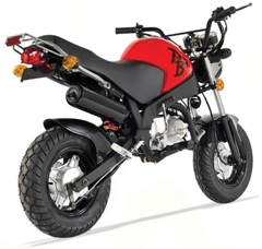 pocket bike sky 50cc homologue route