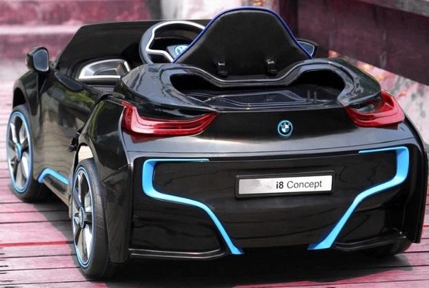bmw i8 mini noire voiture electrique bebe pas cher. Black Bedroom Furniture Sets. Home Design Ideas