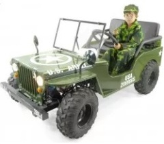 jeep us army willys 150cc semi auto amortisseurs