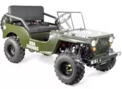 jeep us army willys 150cc vitesses automatiques pas cher