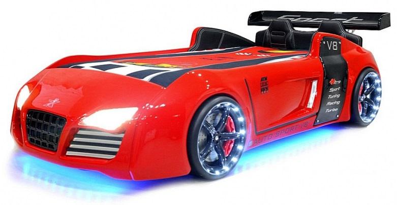 lit voiture supersport turbo v8 led pas cher