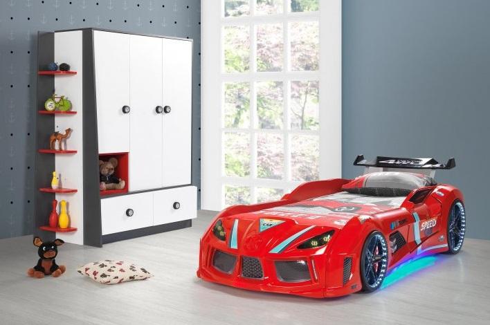 lit voiture neo big led pas cher lit led pour enfant. Black Bedroom Furniture Sets. Home Design Ideas