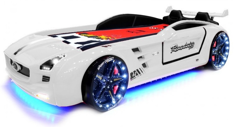 lit voiture supersport led blanc pas cher