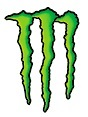 monster energy logo quad