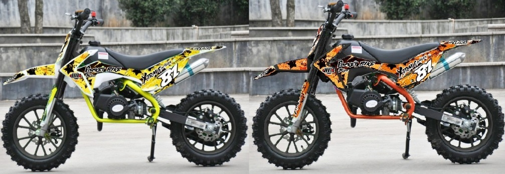 pocket xxx mini dirt bike moto cross enfant 50cc