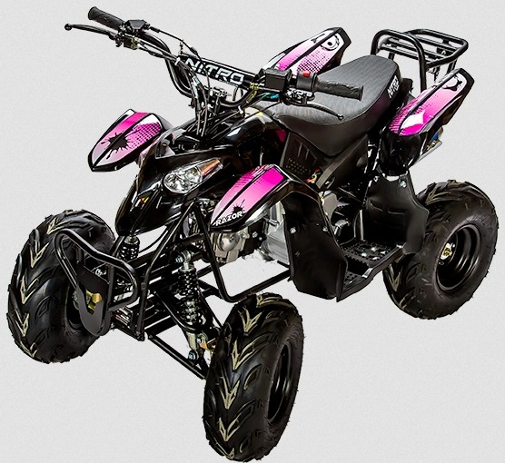 quad rose 110cc nitro motors razor