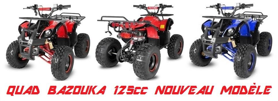 quad bazouka 125cc nouveau mod le pneus 8 pouces quad bazouka toronto pas cher. Black Bedroom Furniture Sets. Home Design Ideas