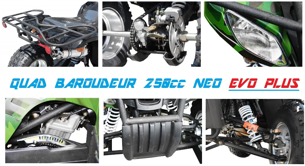 quad baroudeur 250cc neo evo top qualite ecoimport egl farmer