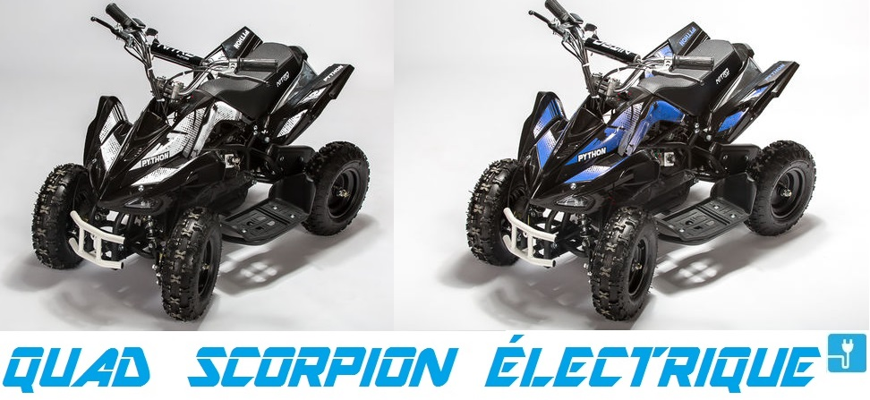 pocket quad python scorpion electrique 800w