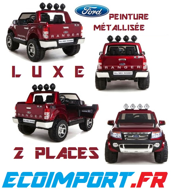 4x4 ford ranger version luxe 2 places xxl voiture electrique enfant pas chere peinture. Black Bedroom Furniture Sets. Home Design Ideas