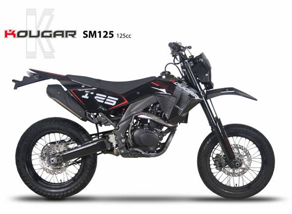 supermotard 125cc kougar 125cc moto pas cher homologue route sm 125 cc. Black Bedroom Furniture Sets. Home Design Ideas