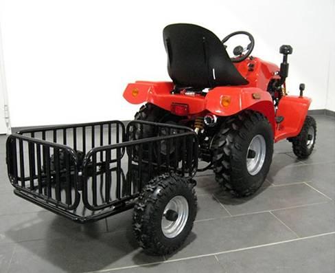 mini tracteur agricole utilitaire avec remorque moteur 110cc loncin. Black Bedroom Furniture Sets. Home Design Ideas